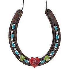 idea!    wrap wire and beads around horseshoe