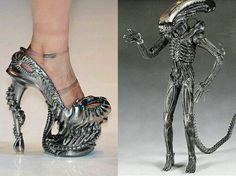 badass shoe, alien shoe