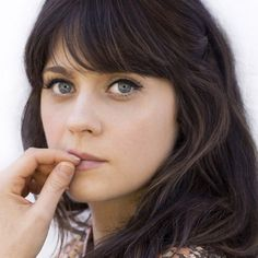 Zooey Deschanel #bangs #hairstyle #fashion