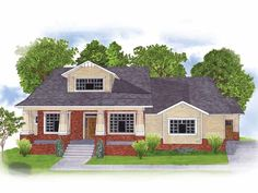 Craftsman House Plan with 1838 Square Feet and 2 Bedrooms from Dream Home Source   House Plan Code DHSW55284
