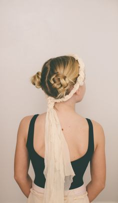 chamomile dyed braided crown
