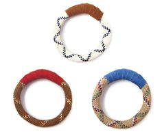 Multicolor rope and leather Bracelets via uncovet