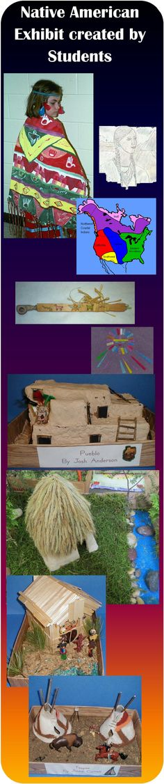 Great website for students to learn about Native American customs, clothing, homes, and way of life created by students