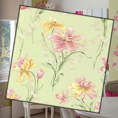Make the most of wallpaper; save left over wallpaper to make colorful corkboards; plain corkboard tiles are cheap and can be found in a variety of sizes at craft stores.