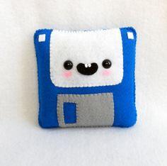 Happy Floppy Disc plush <3