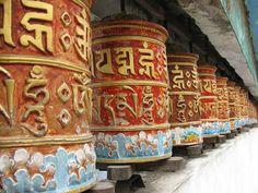 Prayer Wheels in the Rumtek Monastery, India