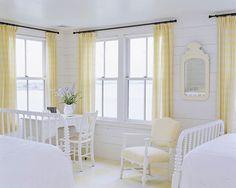 East Coast beach house bedroom.
