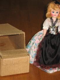 Blue Bonnet Switzerland Vintage Plastic Doll