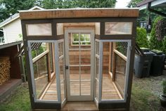 Greenhouse with a Vintage Storefront by LittleMansionsDesign, $3890.00. Whenever I live in Oregon I will have this!!