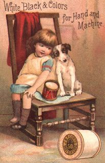 vintage trade cards, Coats & Clark - have this one & others - love them!