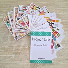 Project life reference cards.... so much more manageable than full size reference sheets