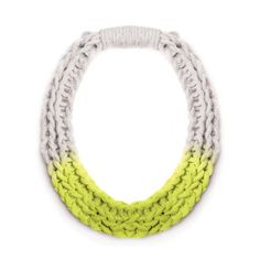 Purls hand woven yarn necklace - Neon Yellow | Saloukee