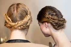 Loving these low slung braids, a new take on the milkmaid.