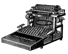 Vintage Clip Art - 3 Antique Typewriter Graphics - The Graphics Fairy