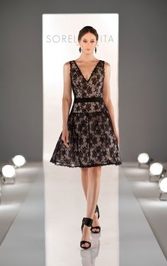 lace and chiffon cocktail dress