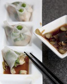 Shrimp and Pea Shoot Dumplings