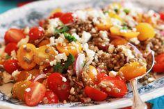 Cherry tomato, lentil & feta salad
