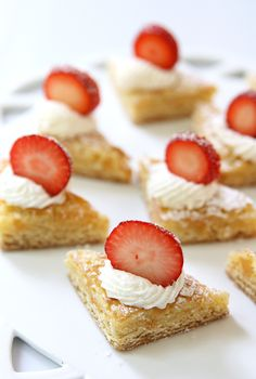 Mini Strawberry Shortcake Bites