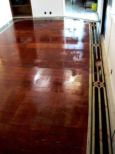 Hometalk :: A 1964 Single-Wide Make-Over - Hand Painted Sub-Flooring.........This looks incredible, the whole house does!
