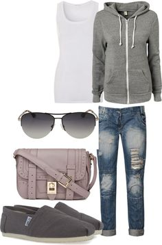 grey and comfy, created by madatmadi on Polyvore