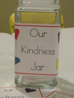 This is an idea to teach how to be kind for preschoolers, but it works for all of us. Write down how or when you were kind and fill the jar. I challenge you to fill it up in a week or less!