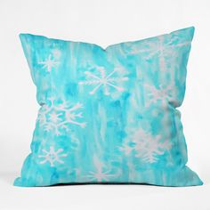 Rosie Brown Snowing Throw Pillow | DENY Designs Home Accessories    #pillow #throwpillow #homedecor #christmas #art #children #denydesigns