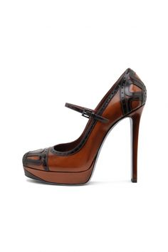"Black + brown + mary janes + 5"" heel.. LOVE!!!~!!!!"