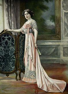 Les Modes (Paris) January 1909 Robe de Bal par Cauet Soeurs