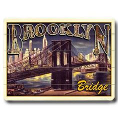 Brooklyn Bridge 20x14 now featured on Fab. Vintage Artwork On Wood Signs  Founded by Richard Weedn and Terrence Flynn in 2000, ArteHouse is one of the world's largest publishers of vintage posters. This collection presents an eclectic assortment of inspiring and idyllic imagery and travel ads, beautifully printed on ready-to-hang wood signs.