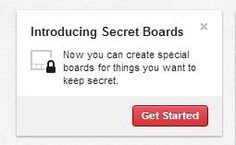 Pinterest Secret Boards -Private Boards only Invited Friends Can See -Tutorial