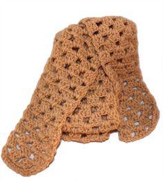 Beautifully handmade crocheted women's scarf by Robyn Latimer.