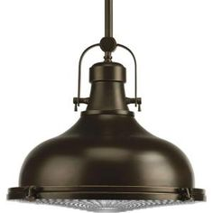 Progress Lighting, Fresnel Collection 1-Light Oil Rubbed Bronze Pendant, P5197-108 at The Home Depot - Mobile
