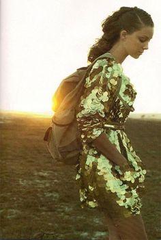 Gold paillette dress