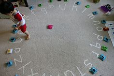 ABC circle with lots of ideas how to play with it. 15 minutes and tape