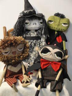 Werewolf Halloween Cloth Art Doll. $39.95, via Etsy.