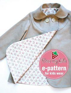 Stylish Kids Coat - PDF Pattern. $6.00, via Etsy.