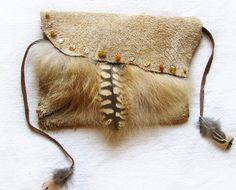 Medicine Bag Owl Feather Fox Amber Quartz by TheSacredWild on Etsy
