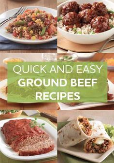 Turn that ground beef in your fridge into everyone's favorite meal. Browse through our simple and delicious ground beef recipes to find what is sure to be your family's new favorite meal. Try our ground beef recipes for dinner tonight.
