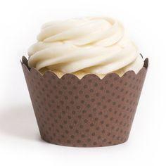 Emma Chocolate Brown Cupcake Wrappers BULK