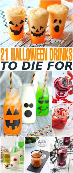Here are 21 Halloween drinks to die on All Hallows' Eve - serve at a Halloween party or just for a fun spooky treat for your family.