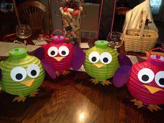 DIY owl paper lanterns
