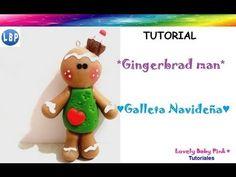 Como hacer una Galleta navideña - How to make gingerbread man cookie