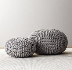 Julia - R.H. | Knit Cotton Pouf