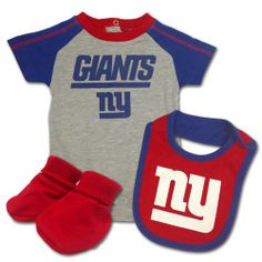 Baby Giants Creeper, Bib & Bootie Outfit