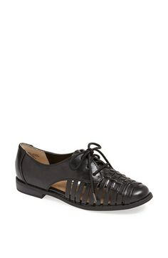 BC Footwear 'Crystal Clear' Lace-Up Oxford synthetic black sz7 79.95