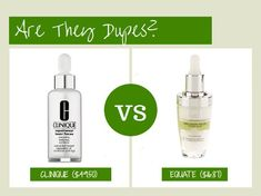 Are They Dupes?: Clinique Repairwear Laser Focus VS Equate Beauty Precision Focus Wrinkle Serum
