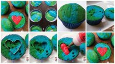 Earth Day Love Cupcakes