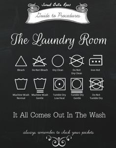Free Laundry Room Printable #free #printable My husband and oldest daughter could use this.