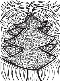 Abstract Doodles: Free Christmas Doodles to Color holiday, classroom, school, christmas coloring pages, art, abstract doodl, christma tree, christma doodl, christmas trees
