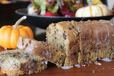 Pumpkin Chocolate Chip Bread - Skinny Not Skinny